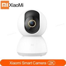 كاميرا آي بي ذكية جديدة وأصلية من شاومي Mijia كاميرا 2K 360 زاوية فيديو واي فاي رؤية ليلية كاميرا ويب لاسلكية كاميرا مراقبة أمان