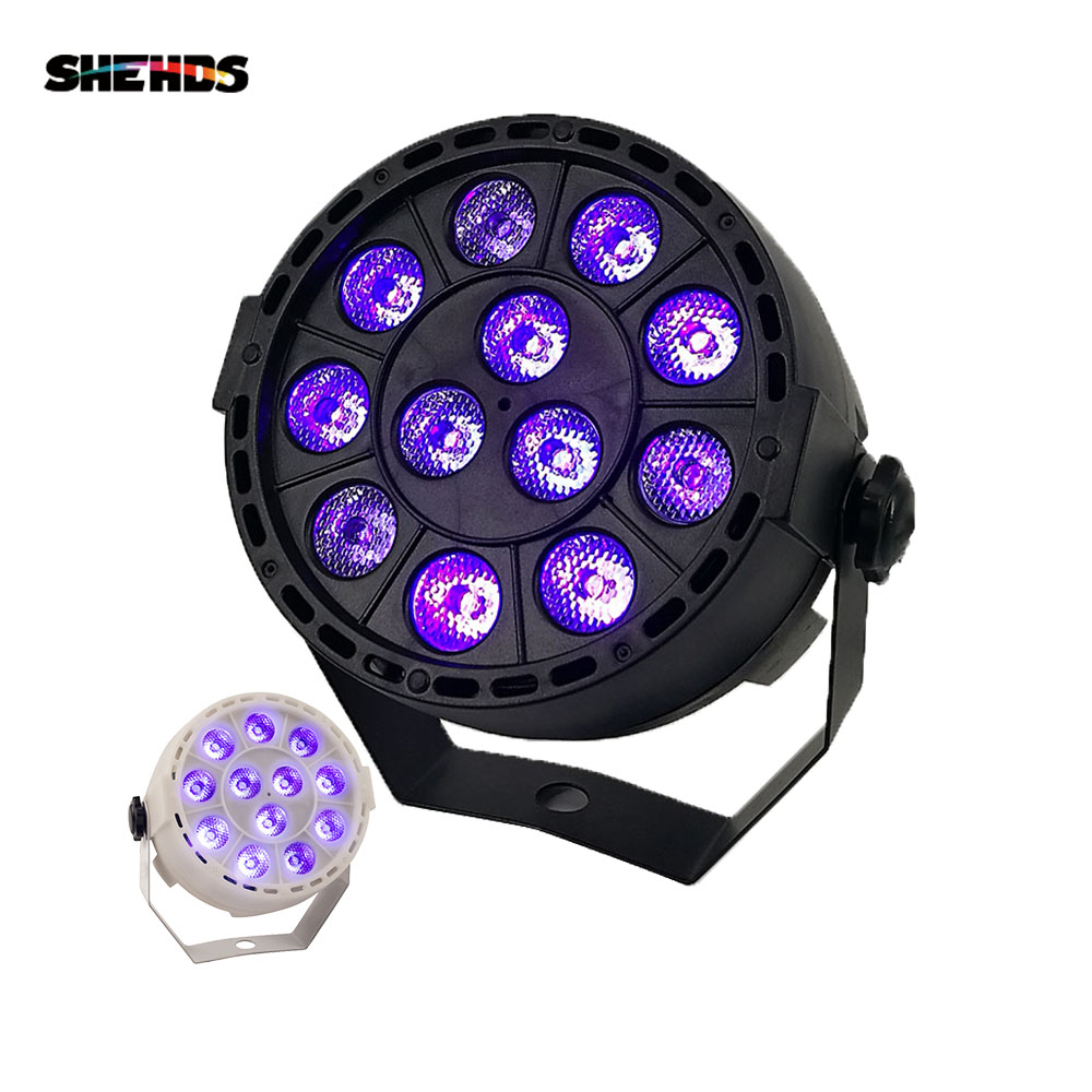LED Stage Light Effect 12x3W Ultraviolet Color Flat Par DMX512 DJ Disco Lamp KTV Bar Party Backlight Beam Projector Spotlight