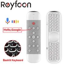 Q40 Беспроводная мини-клавиатура с пультом дистанционного управления, 2,4G, ИК-обучающая воздушная мышь, Gyros для ТВ-приставки Android, Google assistant W2