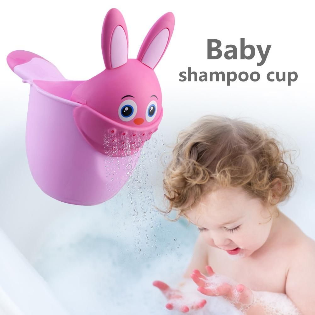 Baby Cartoon Rabbit Shampoo Cup Shower Water Spoon Shower Cup Newborn Bath Shower Liquid Baby Bath Water Spoon Bathing Cup image