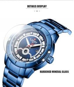 Image 4 - Relojes deportivos para hombre de marca de moda NAVIFORCE, relojes de pulsera militares de acero inoxidable de cuarzo para hombre, reloj Masculino