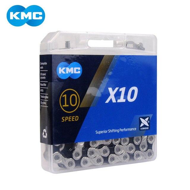 Chaîne de vélo KMC X10 X10.93 10 vitesses avec boîte dorigine et bouton magique pour pièces vtt/vélo de route