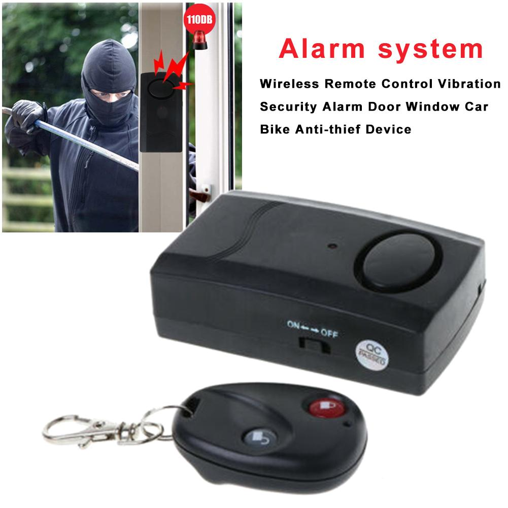 Wireless Vibration Alarm Home Security Motorcycle Car Door Window Anti-Theft Device For Motorcycle Remote Control 20Meters 120dB