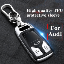 Hight quality TPU+ABS Car Key Cover Case for For Audi A1 A4 A5 A6 A7 A8 Q5 Q7 Q8 R8 RS4 RS5 RS6 RS7 Intelligent Remote Keyless