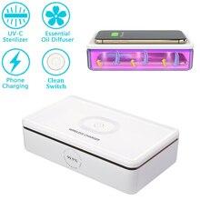 다기능 UV 살균기 무선 충전기 상자, 아로마 테라피 기능 소독기, 휴대 전화 청소기 자외선 살균기 상자