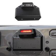 Запасная шина БАГАЖНИКА АВТОМОБИЛЯ, удаление наполнителя выхлопа номерного знака для Jeep Wrangler JL, железные внешние аксессуары