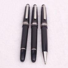 Monte meisterblock – stylo à bille en résine noire 2021, stylo à encre Blance pour écriture, cadeau de bureau, nouveauté 145