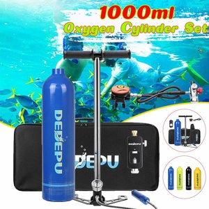 1L Scuba Diving Cylinder 15-20min Capability Oxygen Tank Set Dive Respirator Air Pump for Snorkeling Breath Diving Equipment(China)