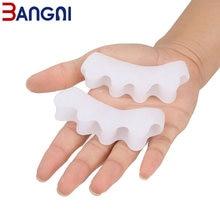 3angni 1 пара гелевых разделителей пальцев ног корректор вальгусной
