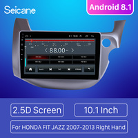 Seicane Android 8.1 10.1 for HONDA FIT JAZZ 2007 2013 Right Hand Drive Car Head Unit Player 2 Din GPS Navigation Radio WiFi 3G