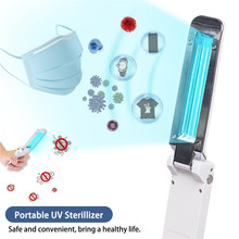 Mini Ultraviolet UV Sterilizer Light Foldable Mask Sterilization Lamp Ultraviolet Light for Disinfect Kill Mites Mites Lights