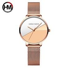 Gradient Farbe zifferblatt Quarz frauen armbanduhr neuesten mode trend Internet celebrity Edelstahl armband Japan bewegung
