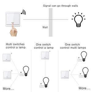 Image 2 - Беспроводной светильник, переключатель, комплект, без стены, пульт дистанционного управления, переключатели для ламп, вентиляторы, бытовая техника, 433 МГц, радиочастотный приемник по умолчанию