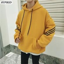 Sweatshirts Man 2019 Autumn Striped Mens Hoodies Hip Hop Long Sleeve Hooded Loose Streetwear Harajuku Pullover M-XL