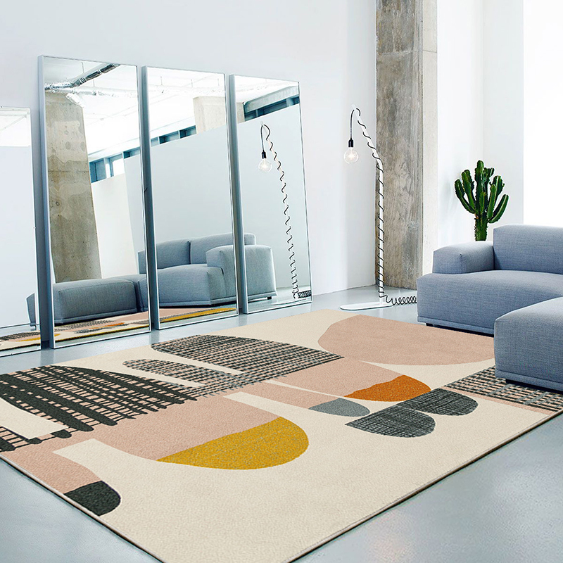 Nordic Simple Carpet Living Room Creative Bedroom Carpet Home Decor Sofa Coffee Table Rug Geometric Design Study Room Floor Mat