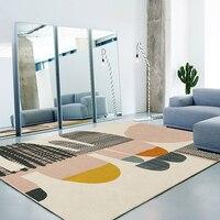 Nordic Simple Carpet Living Room Creative Bedroom Carpet Home Decor Sofa Coffee Table Rug Geometric Design Study Room Floor Mat