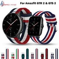 Cinturino in Nylon per Huami Amazfit GTR 2 GTS 2 bracciale cinturino classico in tessuto per Amazfit GTR 47MM GTS Smartwatch cinturino sostituibile