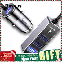 Baseus 4 USB Caricabatteria Da Auto Per iPhone iPad Samsung Tablet Veloce Caricatore Del Telefono Mobile 5V 5.5A Caricabatteria Da Auto USB adattatore per Auto-Charger