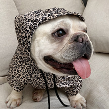 Pet Dog Cat Clothing Leopard Print Hoodie Clothes Roupa Para Gato Cute  Kitten Costume