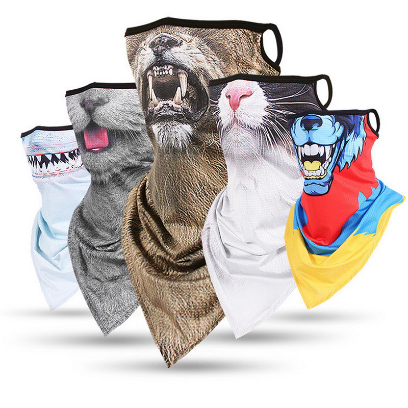 Clothing - Multi-function Outdoor Headscarf Animal Print Variety Face Over Headband Neck Bandanas Men Women