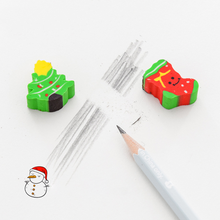 4 pcs Christmas Erasers Kindergarten Toy animal Eraser Creative Pencil Erasers Promotional Student Stationery School Supplies japan iwako puzzle eraser set novelty dessert animal toy collection perfect gift creative stationery