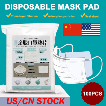 100pcs Mask Respirator Filter Pad Disposable Anti Pollution Smog Prevention For Mouth Mask Replacement Healthy Breathing Filter