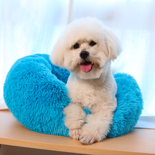 Round Dog Bed Washable long plush Kennel Cats House Super Soft Cotton Mats Sofa For Chihuahua Best Pet Cat