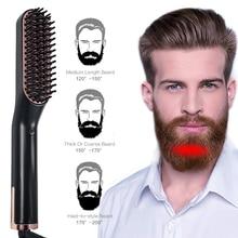 3 in 1 Multifunctional Hair Comb Brush Beard Straightener Hair Straighten Straightening Comb Hair Curler Quick Hair Styler цена 2017