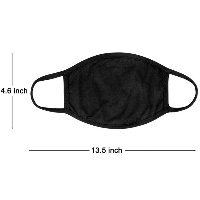 Black White Mouth Mask Anti Dust Mask Activated Carbon Respirator Windproof Mouth-muffle Proof Flu Face Masks 2