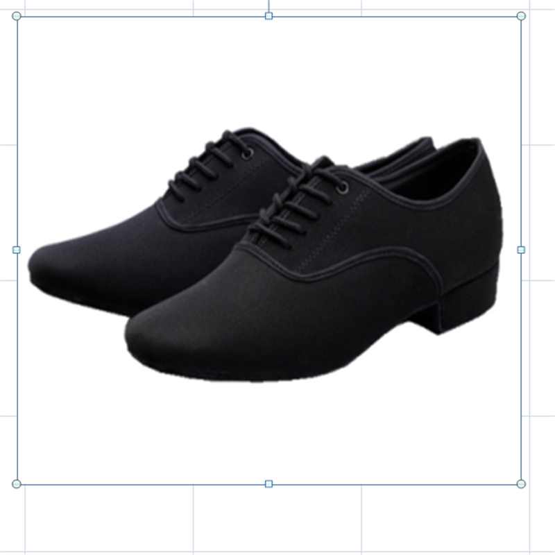 Men's Latin Ballroom Dance Shoes Professional Black Canvas Latin Salsa Shoes Plus Size Low Heel Tango Ballroom Dance Shoes