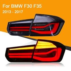 Светодиодный задний фонарь для BMW F30 F35 2013 2014 2015 2016 2017 красный Копченый черный светодиодный фонарь светильник сигнала поворота Стоп-сигнал св...