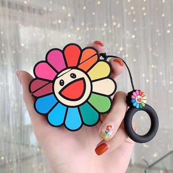 3D Takashi Murakami Kaikai Kiki Rainbow kwiat przypadki słuchawek silikonowe słuchawki pokrywa dla airpods pro dla Apple Airpods 1 2 3 tanie i dobre opinie HERECASE CN (pochodzenie) Słuchawki Przypadki for Apple Airpods for Apple Airpods 2