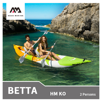 AQUA MARINA 2020 New BETTA Inflatable Canoeing 2 Persons Kayak high end Fishing inflatable Boat Rowing Water 2 Headed Paddle фото