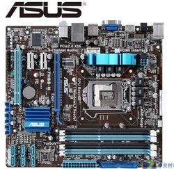 ASUS P7H55-M اللوحة الأم الأصلي المقبس LGA 1156 DDR3 H55 16 جيجابايت ل i3 i5 i7 وحدة المعالجة المركزية المستخدمة سطح المكتب اللوحة الأم