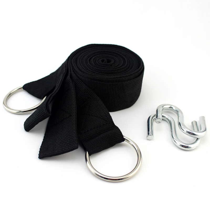 Outdoor Hammock Only Nylon Strap Lanyard Equipment Ratchet Tie down Tied Lanyard Life-Saving Bandage Cloth with Hanging Buckle