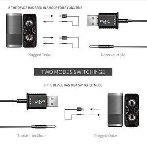 Image 4 - Bluetooth 5.0 Audio Receiver Transmitter 2 In 1 AUX RCA USB 3.5mm Mini Stereo Bluetooth Jack For TV PC Car Kit Wireless Adapter