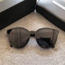نظارات شمسية بتصميم مونستر لطيف للنساء على الطراز الكوري موديل 2020 نظارة شمسية عتيقة على شكل عين القطة عبوة صندوق أصلي