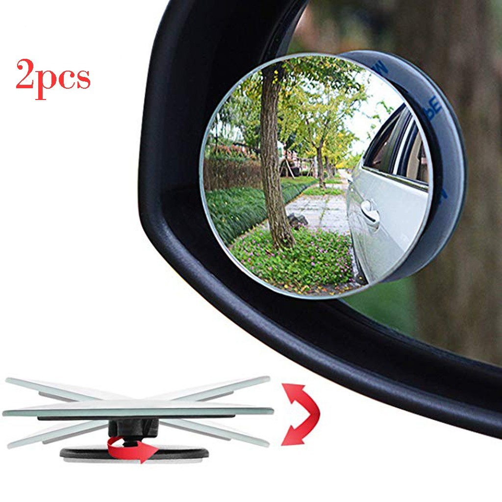 6pc Blind Spot Mirror-2/'/' Universal Fit Round Convex Rear Side Adhesive Mirror