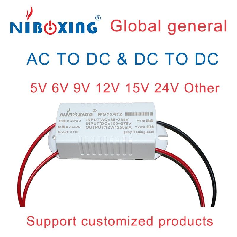 Smps провод ac dc импульсный источник питания 220 В до 5 В 6 в 12 В 15 в 18 в 24 в 15 Вт acdc Модуль питания конвертер маленький размер SMPS