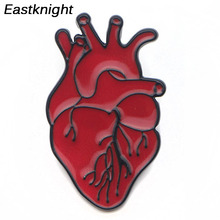 K31 Medical and Anatomy Heart Metal Enamel Pin for Backpack / Bag Jeans Clothes Badge Lapel Brooch Jewelry Gift Doctor