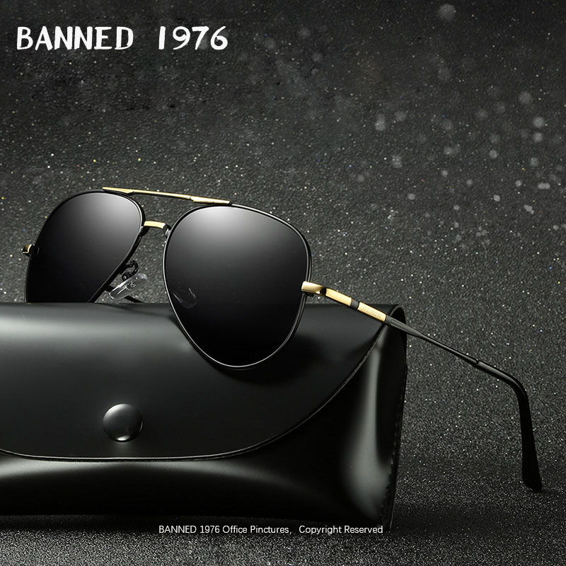 BANNED 1976 Men Polarized Brand Sunglasses Designer 2018 Fashion Driving Sun Glasses Eyewear Accessories For Men oculos de sol image