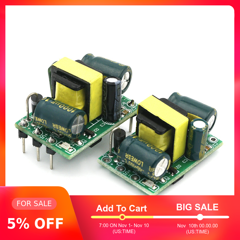 <font><b>5V</b></font> 700mA (3.5W) 12V 400mA 5W isolated switch <font><b>power</b></font> <font><b>supply</b></font> module for Arduino AC-DC buck step-down module 220V turn <font><b>5V</b></font> image