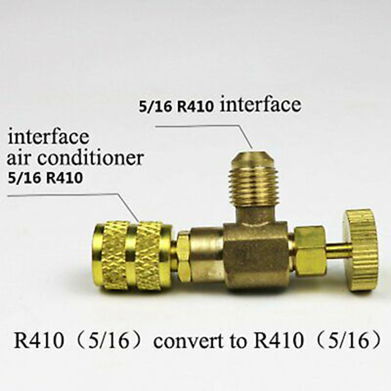 R410/R22 Refrigeration Charging Valve Adapter Air Conditioning Safe Tool Sale UK