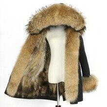 Wasserdichte Parka Winter Jacke Frauen Echt Fox Pelz Liner Mantel Große Natürliche Waschbären Pelz Kapuze Starke Warme Lange Parkas Streetwear neue