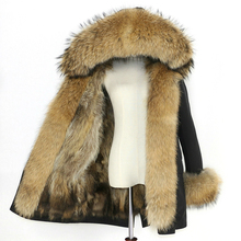 Waterproof Parka Winter Jacket Women Real Fox Fur Liner Coat Big Natural Raccoon Fur Hood Thick Warm Long Parkas Streetwear New