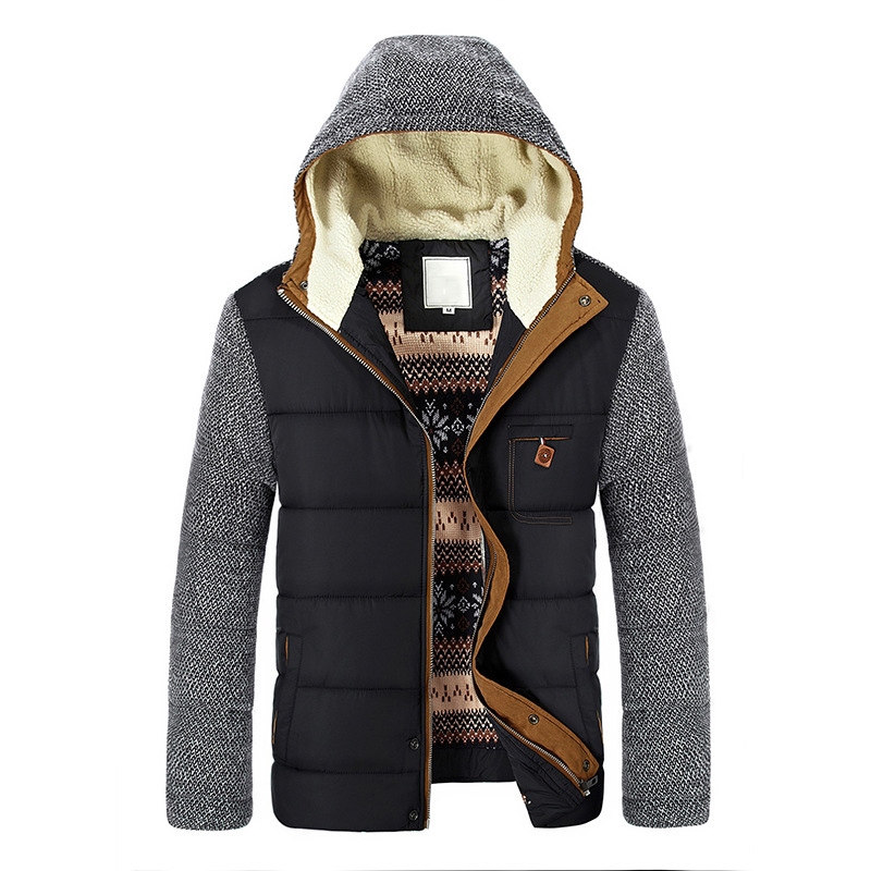 Mountainskin Winter Coat Men's Warm Parkas Thick Fleece Cotton Coats Slim Male Jackets Hooded Coat Mens Brand Clothing SA830 5