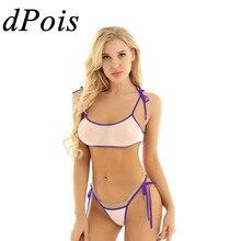Сексуальный женский эротический микро мини бикини набор женский купальный костюм для взрослых прозрачный купальник
