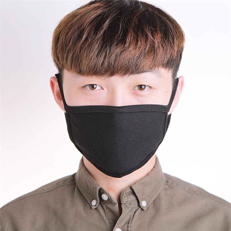 Unisex Women Men Cotton Face Washable Mask Soft Anti-Dust Mouth COVER Health Care Breathable Black White Mask Fast Shipping 2020