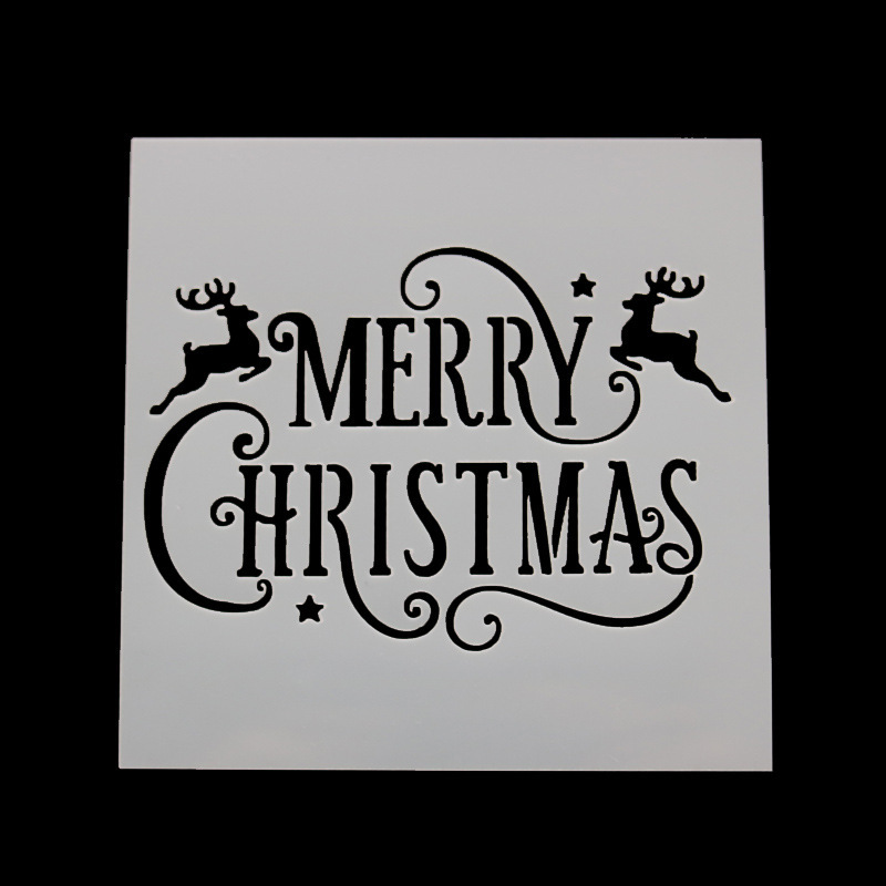 DIY Craft Merry Christmas Layering Stencils For Walls Painting Scrapbooking Stamp Album Decor Embossing Paper Card Template