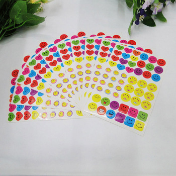10 Sheets Smile Face Stickers Kawaii Funny Sticker Decoration Toys Self-Adhesive Paper Label For Notebook Albums Phone Computer - discount item  40% OFF Stationery Sticker
